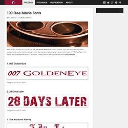 100 Free Movie Fonts