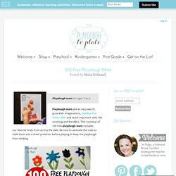 100 Free Playdough Mats - Playdough To Plato