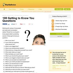 100 Getting to Know You Questions