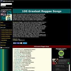 100 Greatest Reggae Songs