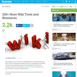 100+ More Wiki Tools and Resources