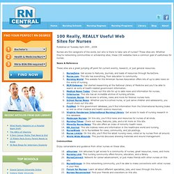 100 Really, REALLY Useful Web Sites for Nurses