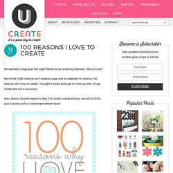 100 Reasons I Love to Create