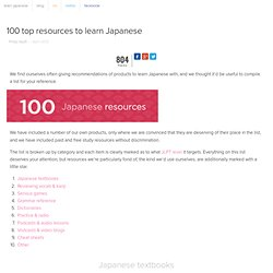 100 top resources to learn Japanese