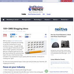 100+ SMB Blogging Ideas to Kick Start 2010