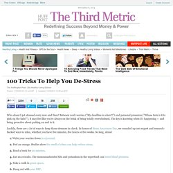 100 Tricks To Help You De-Stress