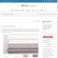1000 Thread Count Sheets - Izzz Blog