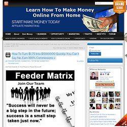 How To Turn $1.75 Into $1000000 Quickly-You Can`t Say No..Earn 100% Commissions