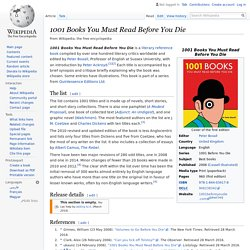 1001 Books You Must Read Before You Die - Wikipedia