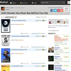 1001 Movies You Must See Before You Die list