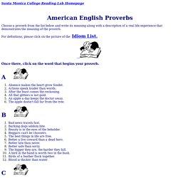 101 American English Proverbs
