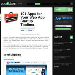 101 Apps for Your Web App Startup Toolbox