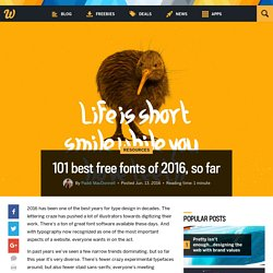 101 best free fonts of 2016, so far