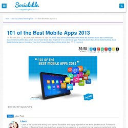 101 of the Best Mobile Apps 2013