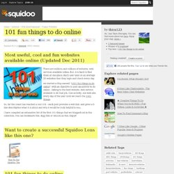 101 fun things to do online