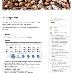 101 Google+ Tips