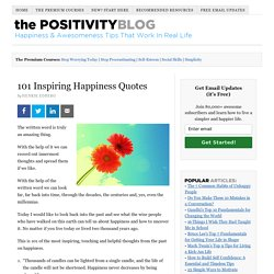 101 Inspiring Happiness Quotes