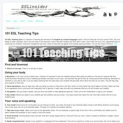 101 Teaching Tips