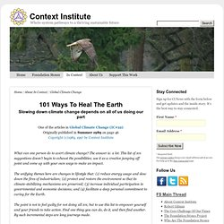 101 Ways To Heal The Earth