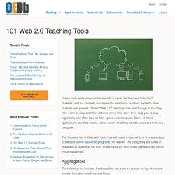 101 Web 2.0 Teaching Tools
