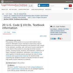 20 U.S. Code § 1015b - Textbook information