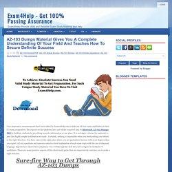AZ-103 Dumps PDF - AZ-103 Free Demo Questions