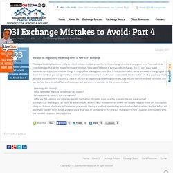 1031 Exchange Mistakes to Avoid