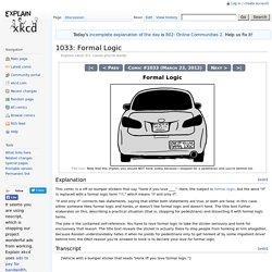 1033: Formal Logic