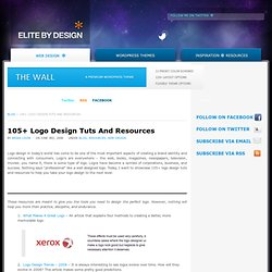 105+ Logo Design Tuts And Resources