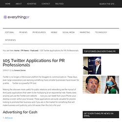 105 Twitter Apps for PR