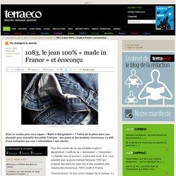 1083, le jean 100% « made in France » et écoconçu