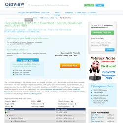 Free MIB-Dell-10892 SNMP MIB Download - Free MIB Download - Search MIBs - OiDViEW