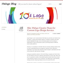 Hire 10alogo Creative Team for Custom Logo Design Services As a custom logo design company across the globe, you can rely on 10alogo for all the branding, graphic design, print advertising and animation. We have the experience and skills to understand