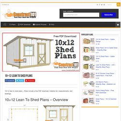 10x12 Lean To Shed Plans - Construct101