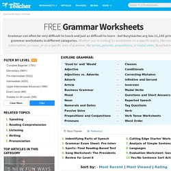 11,005 FREE Grammar Worksheets