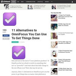 11 Alternatives to OmniFocus
