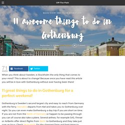 11 awesome things to do in Gothenburg!