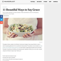 11 Beautiful Ways to Say Grace