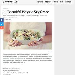 11 Beautiful Ways to Say Grace