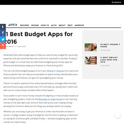 11 Best Budget Apps for 2016