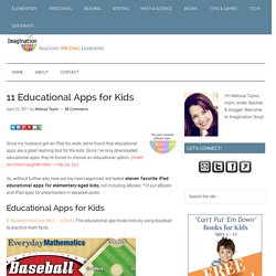 11 Best Educational Apps for Kids