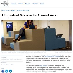 11 experts at Davos on the future of work