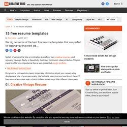 9 free resume templates