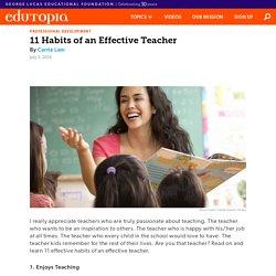 11 Habits of an Effective Teacher