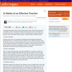 11 Habits of an Effective Teacher