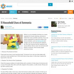 11 Household Uses of Ammonia