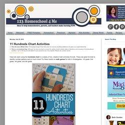 11 Hundreds Chart Activities
