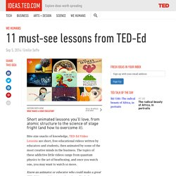 11 must-see TED-Ed lessons