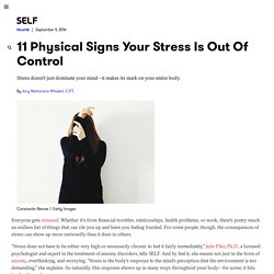 11 Physical Signs Of Stress