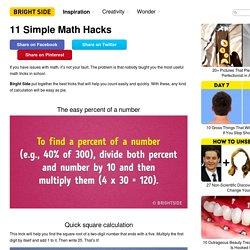 11Simple Math Hacks